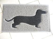 NEU Retro Haus Garten Fußboden Matte Dackel Hund Gummi 74x45cm Antik Stil NEU