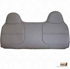 2001 2002 Ford F550XL Work Truck Bench Lean Back Synthetic Leather Cover Gray