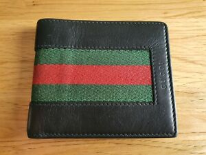 Authentic GUCCI Web Leather Wallet AUTHENTICATEFIRST