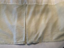 Laura Ashley Full Plaid Bed Skirt Green White Pastel Reverse Box Pleat