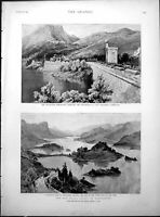 Old New Water Supply Manchester Thirlmere Rev Knox Rev Magrath 1894Victorian