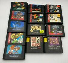 Lot of 13 Sega Genesis Games Cartridge Tested Frogger Sonic Mortal Kombat 2 Zoop