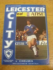 16/10/1981 Leicester City v Chelsea  (Faint Crease). Bobfrankandelvis the seller