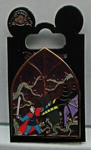 Disney Pin Sleeping Beauty Maleficent Dragon Phillip Stainglass Window 102529