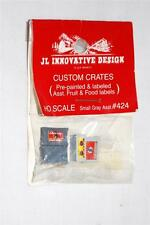 JL Innovative Design #424 Custom Crates Fruit & Food HO Scale USA FOUR crates