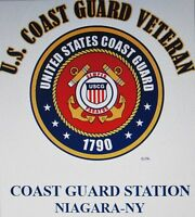 US COAST GUARD STATION NIAGARA-NY* COAST GUARD VETERAN EMBLEM*SHIRT