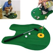 Funny Potty Putter Toilet Time Mini Golf Game Novelty Gag Gift Toy Mat JL
