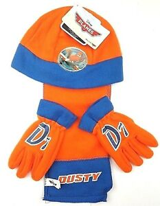 Official Planes Dusty Infants 3 Piecec Set Winter Hat Gloves & Scarf Year 2-13