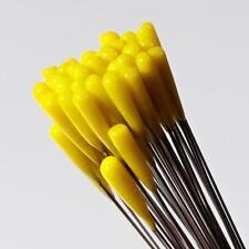 (1) lampwork Czech yellow flower stamen art glass craft arranging headpin bead