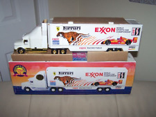 1995 EXXON GOLD RACE CAR CARRIER -ONLY 4000 MADE- MIB- 4TH IN SERIES