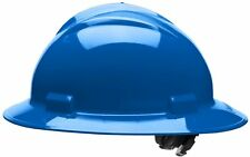 Bullard Full Brim Hard Hat with 4 Point Ratchet Suspension, Blue