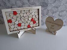 Guest book matrimonio libro degli ospiti 30x20cm legno nozze puzzle quadro cuore