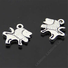 12pc Tibetan Silver Lion Animal Pendant Charms DIY Findings Accessories 417AF