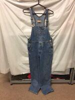 London Jeans Denim Blue Jean Overalls Bibs Womens Sz M - Painter USA VINTAGE
