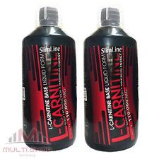 2x L-CARNITIN SLIM LINE 2000ml Stäksten Form 110.000mg BASE Diät Fettverbrennung