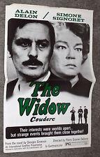 THE WIDOW COUDERC original 1971 movie pressbook ALAIN DELON/SIMONE SIGNORET