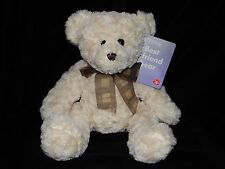 WITH TAG TESCO TEDDY BEAR SOFT TOY CREAM COMFORTER WITH NECK TIE DOUDOU