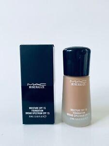 MAC Mineralize Moisture SPF15 Foundation NC35 New In Box 1 Oz / 30ml