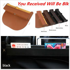 1xBlack Car Seat Crevice Storage Box Bag Case For Book Phone Card Cigarette Coin