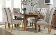 Unbranded Oak Contemporary Table & Chair Sets