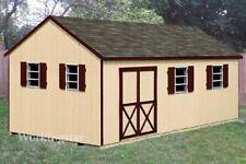 12' x 20' Gable Style Garden Storage Shed Plans / Building Blueprints # E1220
