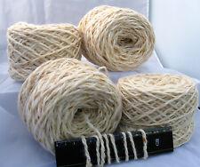 4 x 100g New 'WHOLEMEAL' Bulk Wool. 340m Weaving Knitting Rug Yarn.    16-2743