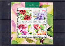 Grenada 2014 MNH Garden Flowers 4v M/S I Hydrangea Rose Peony Oriental Poppy