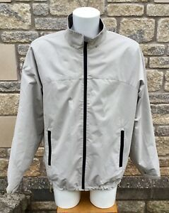 * PERRY ELLIS * PORTFOLIO Men's Beige Dobby Tech Mesh Lined Golf Jacket Coat  XL