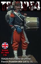 Troop54 French Line Drummer Franco/Prussian 1870/71 War 54mm Unpainted kit