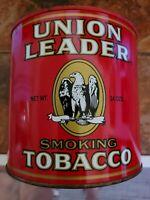 Vintage Collector Tin  Union Leader Tobacco
