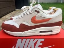 Nike Air Max 1 Size 10 UK EU 45 Coral-Mars Trainers Men's NEW AH8145-104 Sneaker