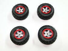 NEW TRAXXAS 1/16 SLASH Wheels & Tires RED Rings RD19R