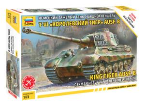 "5023 German Tank ""King Tiger"" (Without Glue) Zvezda 1/72 Model Kit For Kids"