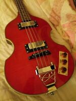 Douglas Beatle Violin Bass w/OHSC, Rare Tiger Flamed maple top/back! None Other!