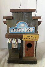 Wooden Dentist Office Hand Made Bird House