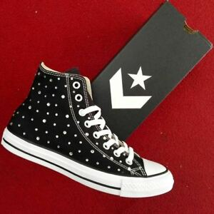 Converse All Star Hi swarovski strass NERO o BIANCO
