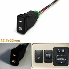 33mm 4-Pole 12V Push Button Switch w/ LED Light for Add-on Fog Light, Light Bar