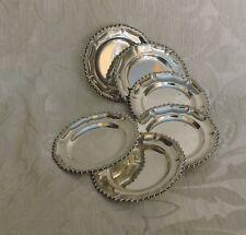 Set 6 piccoli sottobicchieri, metallo argentato Fornari Roma Six Tiny Coasters