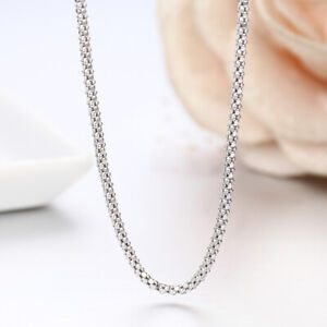 Handmade Solid 925 Sterling Silver Balinese Popcorn Coreana Chain Necklace Bali