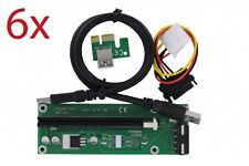 6x usb3 PCI-E 1x a 16x 60cm Riser Card A-Grade Mining ETHEREUM Z-Coin bit-COIN