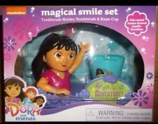 3-1 DORA THE EXPLORER MAGICAL SMILE SET toothbrush, toothbrush holder rinse cup