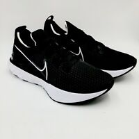 Nike React Infinity Run Flyknit Running Shoes 9.5 CD4371-012 Black Black White