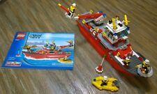 LEGO City Fire Ship (7207) 100% Complete w/ Instruction Manual
