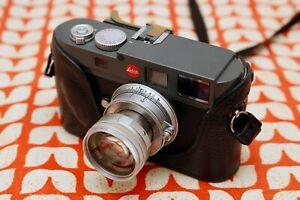 Luigi Crescenzi handmade Italian black leather half case for Leica M9 / M-E