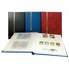 Stamp Collecting Albums -Stockbook Wine Red - 16 White Pages -Small Book Format