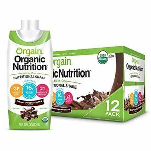 Orgain Organic Nutritional Shake, Creamy Chocolate Fudge - Meal Replacement, 16g