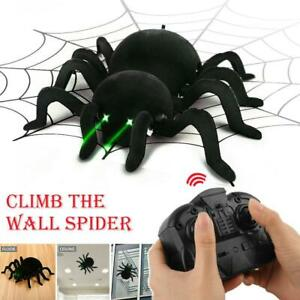 Black Terrifying RC Wall Climbing Spider  Remote Control Car Kid Trick Funny Toy