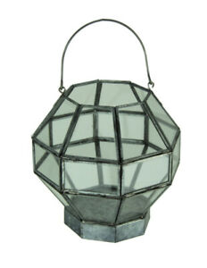 Metal and Glass Octagon Shape Candle Lantern