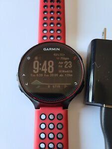 Garmin Forerunner 235 Running Watch Heart Rate Wrist  Glonass GPS Run Red Black