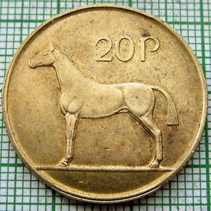IRELAND 1986 20 PENCE, IRISH HORSE, UNC LUSTRE